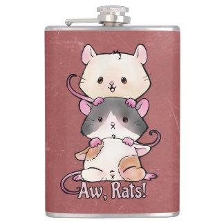 Aw, Rats! Hip Flask