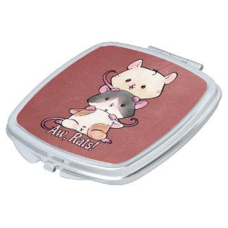Aw, Rats! Makeup Mirrors