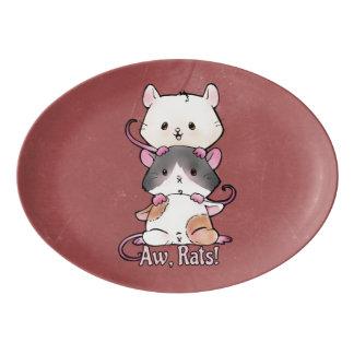 Aw, Rats! Porcelain Serving Platter
