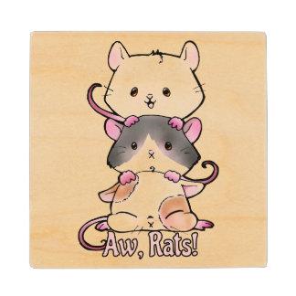 Aw, Rats! Wood Coaster