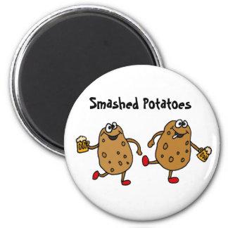 AW- Smashed Potatoes Cartoon 6 Cm Round Magnet