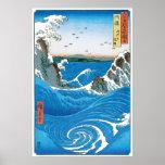 Awa Province, Naruto Whirlpools by Ando Hiroshige