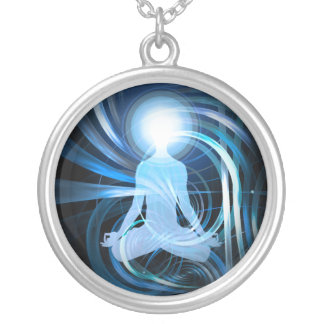 Awakening Light (blue) Silver Plated Necklace
