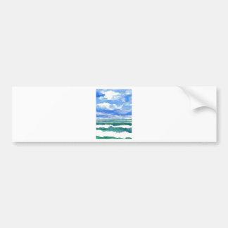 Awakening Ocean Art Gifts CricketDiane Sea Waves Bumper Stickers