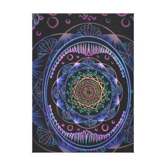 Awakening zen pattern, reiki, healing, chakra canvas print