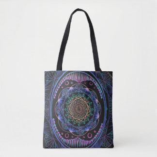 Awakening zen pattern, reiki, healing, chakra tote bag
