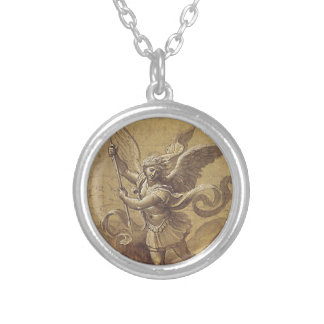 Award a medal to St Michel Archange Silver Plated Necklace