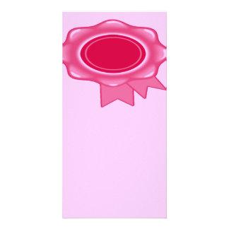 Award Ribbon Bookmark Pink Personalised Photo Card
