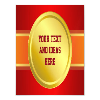 AWARD RIBBON gold III + your backgr. & text Magnetic Invitations