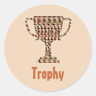 AWARD : Vintage Engraved Gold Round Sticker