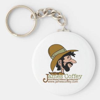 Award-Winning Children's Artist James Coffey Basic Round Button Key Ring