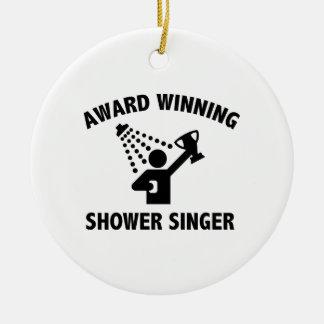 Award Winning Shower Singer Ceramic Ornament