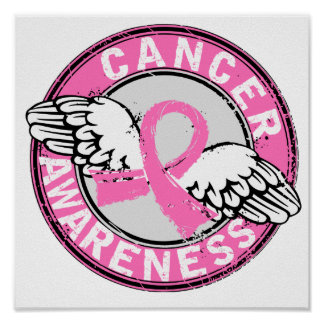 Awareness 14 Breast Cancer Poster