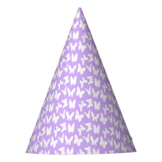 Awareness Butterflies on Lilac Purple Party Hat