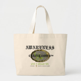 Awareness Caring Coins™ Eco Friendly Large Tote Bag