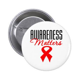 Awareness Matters Heart Disease Pin
