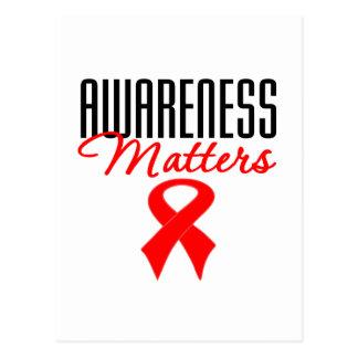 Awareness Matters Heart Disease Postcard