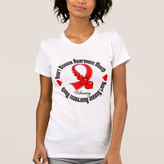 Awareness Month Ribbon - Heart Disease Shirts