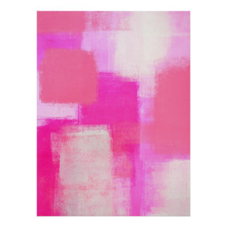 'Awareness' Pink Abstract Art Poster Print