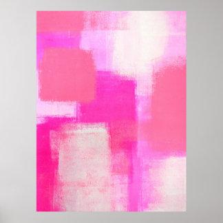 'Awareness' Pink Abstract Art Poster Print