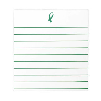 Awareness Ribbon (Green) Notepad
