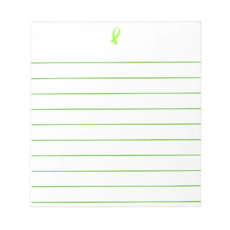 Awareness Ribbon (Lime Green) Notepad
