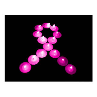 Awareness Ribbon Pink Candles Post Cards