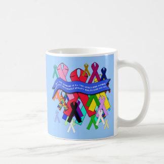 Awareness Ribbons for Universal Health Care Basic White Mug