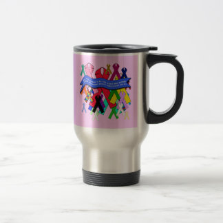 Awareness Ribbons for Universal Health Care Stainless Steel Travel Mug