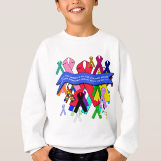 Awareness Ribbons for Universal Health Care Sweatshirt