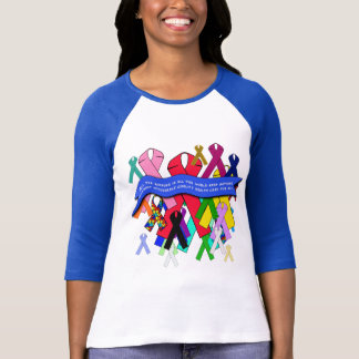 Awareness Ribbons for Universal Health Care T-Shirt