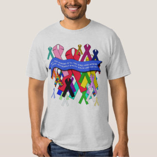 Awareness Ribbons for Universal Health Care Tee Shirts