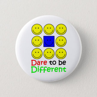 Awareness tee Dare to be Different copy 6 Cm Round Badge