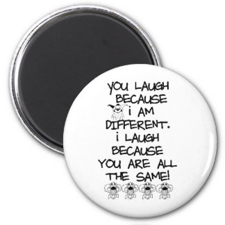 Awareness tee I am different Magnet