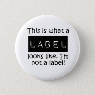 Awareness tee Label 6 Cm Round Badge