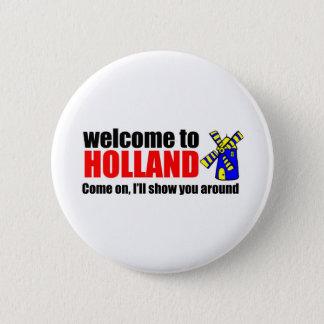Awareness teel holland 6 cm round badge