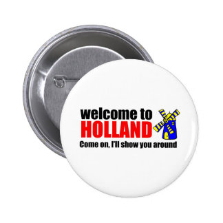 Awareness teel holland 6 cm round badge