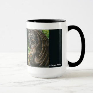 Awareness Winged Cat Mug