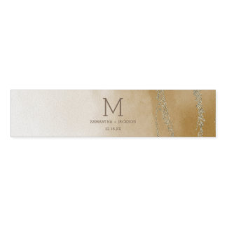 Awash Elegant Watercolor in Sand Wedding Monogr Napkin Band
