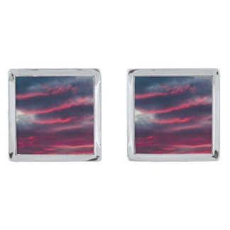 away from our window silver finish cuff links