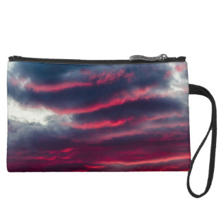 away from our window suede wristlet