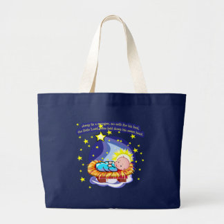 Away in a Manger Christmas Carol T-shirts, Gifts Canvas Bags