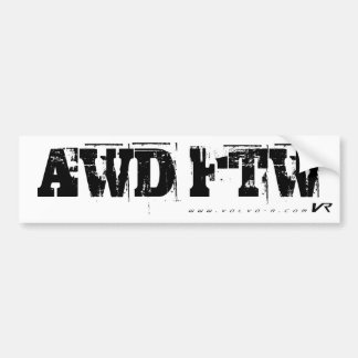 AWD FTW BUMPER STICKER