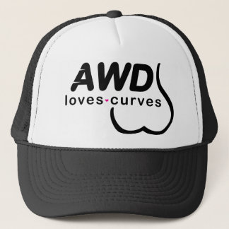 AWD Loves Curves Black Trucker Hat