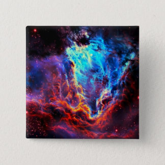 Awe-Inspiring Color Composite Star Nebula 15 Cm Square Badge