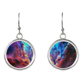 Awe-Inspiring Color Composite Star Nebula Earrings