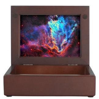 Awe-Inspiring Color Composite Star Nebula Keepsake Boxes