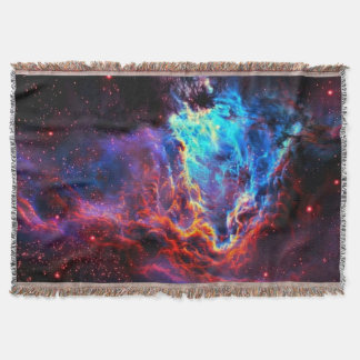 Awe-Inspiring Color Composite Star Nebula Throw Blanket