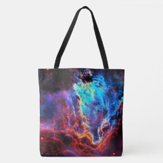 Awe-Inspiring Color Composite Star Nebula Tote Bag