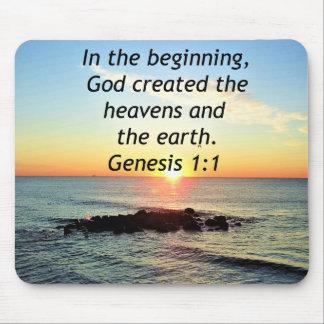 AWE-INSPIRING GENESIS 1:1 SUNRISE PHOTO DESIGN MOUSE PAD